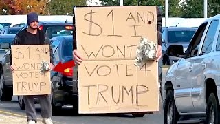 $1 And I Won't Vote For Trump! (Social Experiment)