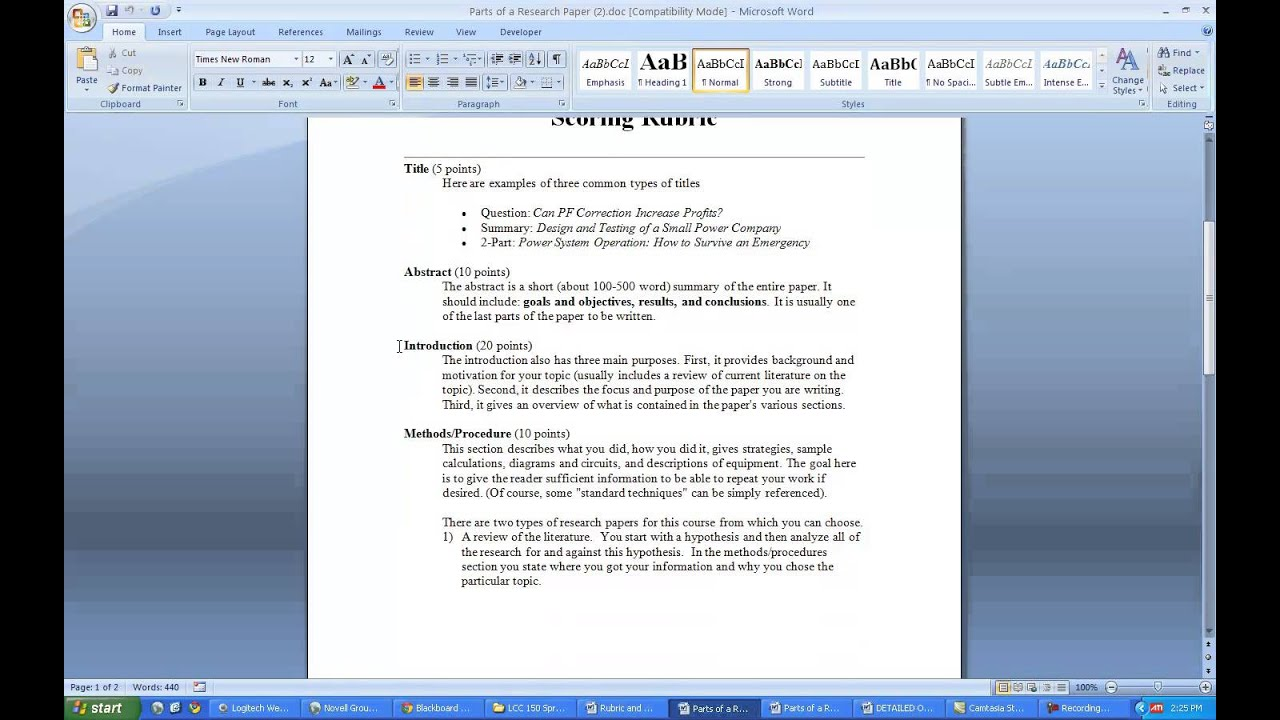 How to write a research study paper