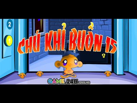 Game chú khỉ buồn 15 - Xem video hướng dẫn chơi game 24H