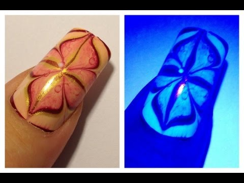 No Water Marble Effect Nail Art Design Tutorial For Long Nails