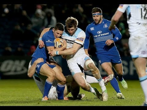 Richie Vernon 1st Try - Leinster v Glasgow Warriors 1st March 2014