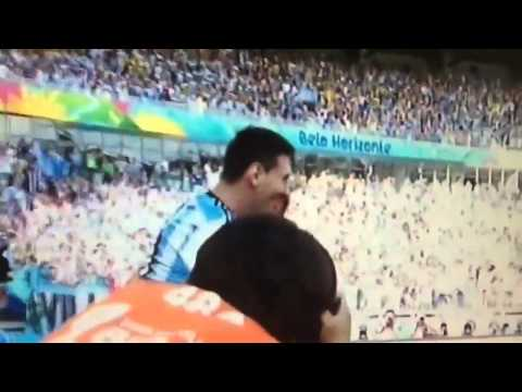 Argentina vs Iran 1-0 World Cup 2014 - Amazing Messi Goal vs Iran