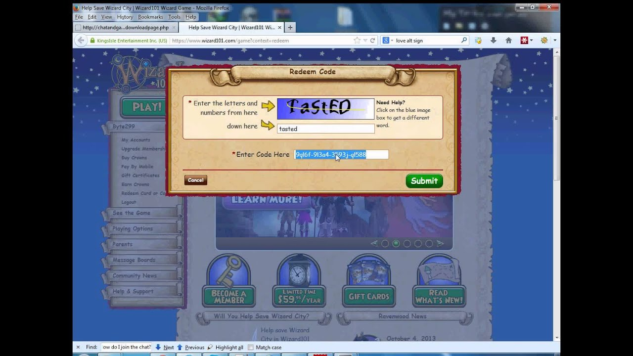 wizard101 free codes no download