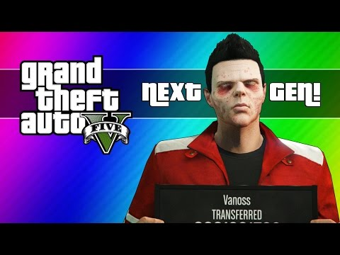 GTA 5 Next Gen Funny Moments - Zombie Face, First Person, Twist Glitch, New Plan, & More!