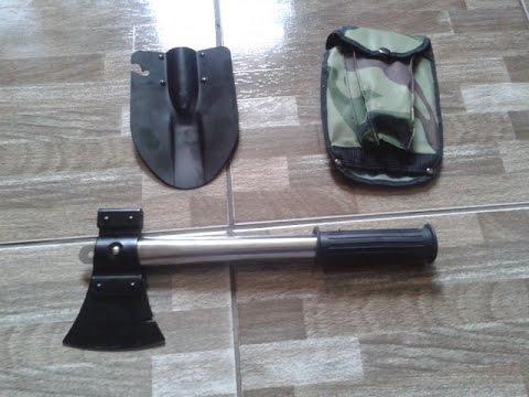 Multi-function outdoor camping shovel spade tools