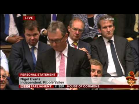 Nigel Evans Personal Statement