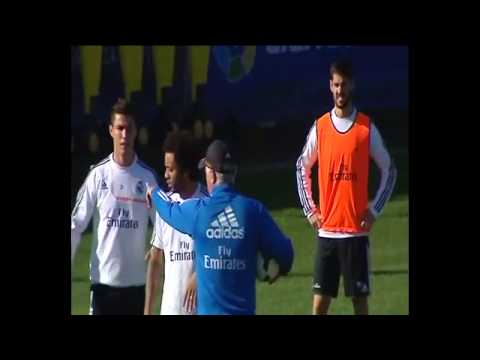 Real Madrid training before match against Malaga