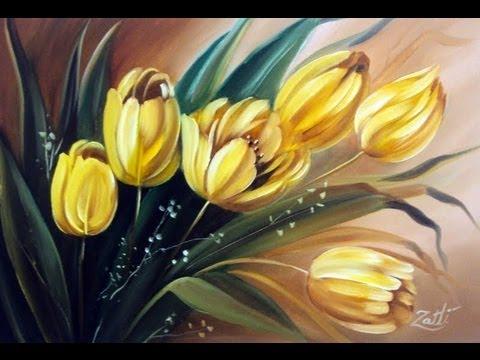Como pintar tulipas youtube for Pinturas para pintar