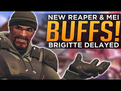 Overwatch: NEW Reaper & Mei BUFFS! - HUGE Brigitte DELAY in RANKED!