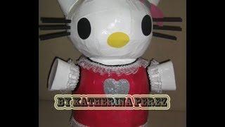 Como Hacer Una Pinata De Hello Kitty Parte 1