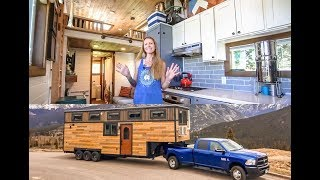Family of 4 & Their STUNNING 5th Wheel Tiny Home ~ Totally Custom Build