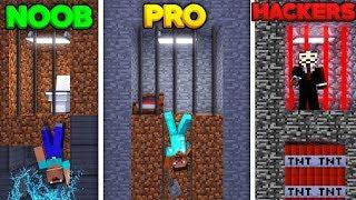 Minecraft - SECRET JAIL BREAK! (NOOB vs. PRO vs. HACKER)