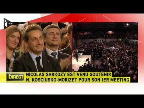 Nicolas Sarkozy acclamé pendant le meeting de NKM - Le 10/02/2014 à 20h00