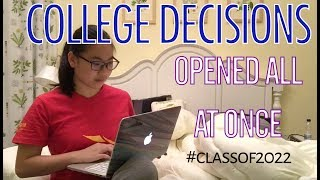 waited for ALL my IVIES/UCs then opened them all AT ONCE (College Decisions 2018)