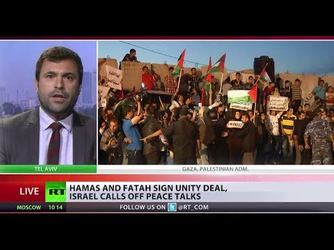 Palestine could soon be united, as Israeli peace accord comes to a halt. Deadly rival fractions -- Fatah and Hamas have signed a deal that calls for a unified government within weeks. This comes after a violent spilt emerged 7 years ago. For more on this RT is joined by Israeli human rights advocate Uri Zaki.   RT LIVE http://rt.com/on-air  Subscribe to RT! http://www.youtube.com/subscription_center?add_user=RussiaToday  Like us on Facebook http://www.facebook.com/RTnews Follow us on Twitter http://twitter.com/RT_com Follow us on Instagram http://instagram.com/rt Follow us on Google+ http://plus.google.com/+RT  RT (Russia Today) is a global news network broadcasting from Moscow and Washington studios. RT is the first news channel to break the 1 billion YouTube views benchmark.