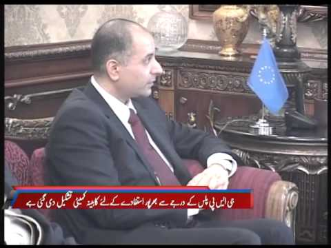 Chief Minister of Punjab & Dr Sajjad Karim MEP - PTV NEWS