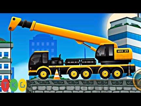 Lắp ráp Xe xúc đất, Máy ủi đất, Xe cần cẩu, Xe tải 11 | Kids Pluzzle CONSTRUCTION CITY 2[49-52] |TKG