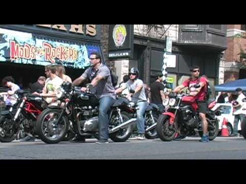 Triumph Motorcycles at Mods vs Rockers Chicago 2011