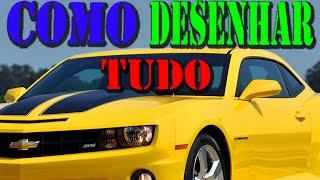 Como Desenhar O Carro Camaro SS Da Chevrolet (How To Draw