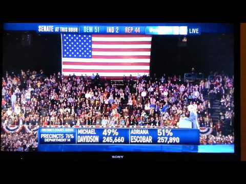 President Barack Obama re-election speech 2012