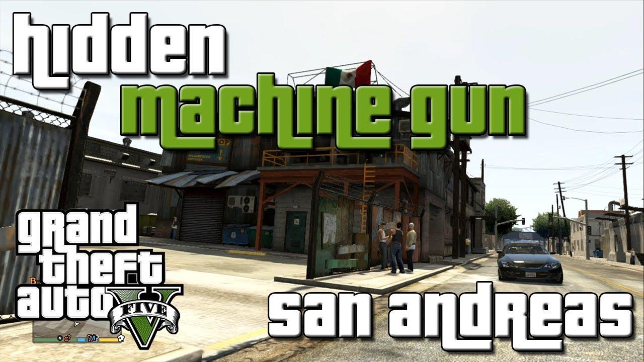 how to get machine gun in gta san andreas