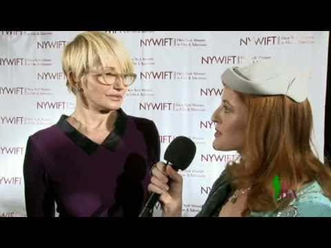 Ellen Barkin and Robin Wright at the 2013 Muse Awards