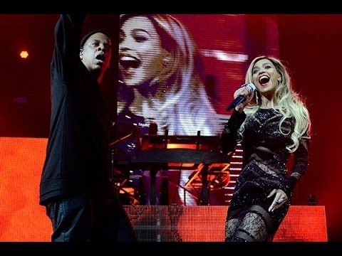 Beyonce and Jay Z Tackle DirecTV's Super Bowl Party