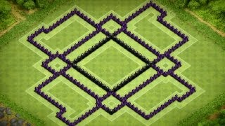 Clash Of Clans Town Hall 9 Anti-Hog Trophy Base (The