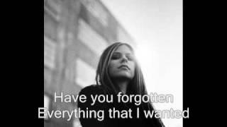Avril Lavigne Forgotten