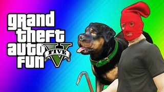 GTA 5 Online Funny Moments Taser Dance, Chop Hump, Cargo