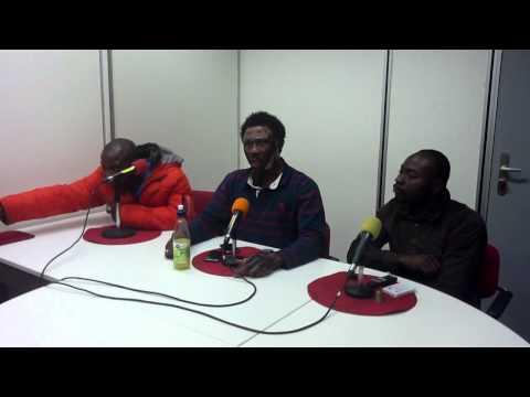 Nana kwaku bonsam in the studios of asomdwie fm amsterdam holland