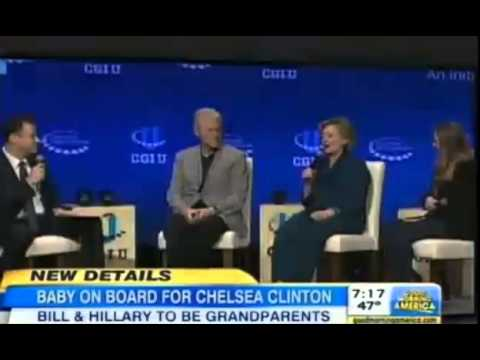 Bill and Hillary Clinton Grandparents to Be Excited Chelsea Clinton Pregnant
