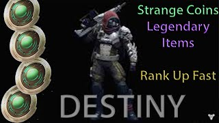 Destiny: How To Get Strange Coins (Ranking Up Fast