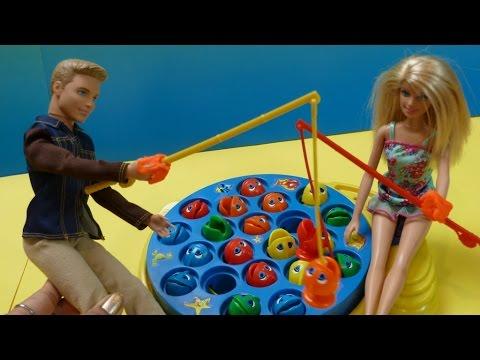 ✿Đồ Chơi Câu Cá Vui Nhộn ✿ Đi Câu Cá Cùng Chị Bí Đỏ✿  Barbie 'N'  Ken Let's Go Fishing Toys