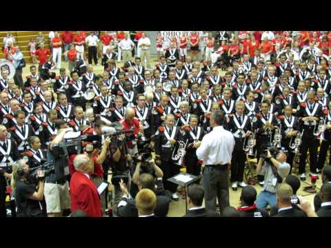 OSUMB Buckeye battle Cry Team Enters Urban Meyer Speech Hang on Sloopy at the Skull Session 9 7 2013