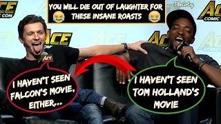 Anthony Mackie & Sebastian Stan Continuously Roasting Tom Holland(Part-2) - Avengers: Infinity War