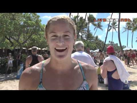 Jaimie Hosfeld Post Race Interview - 2010 Waikiki Rough Water Swim