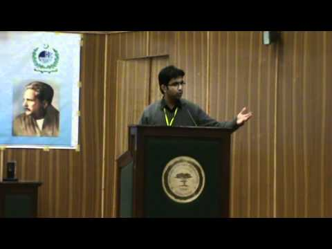 uzair khan of pieas ist position in urdu speech in allama iqbal sheild round 2.