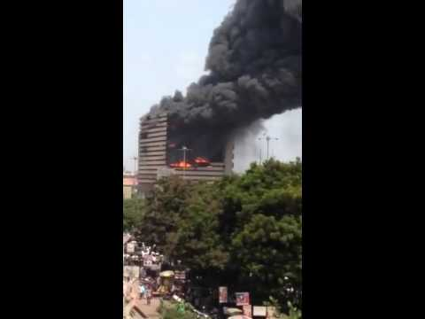 Fire break out in Surat textile market Gujarat part 2