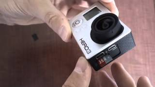 How To Put A Micro SD Card Into GoPro Hero 3 Camera