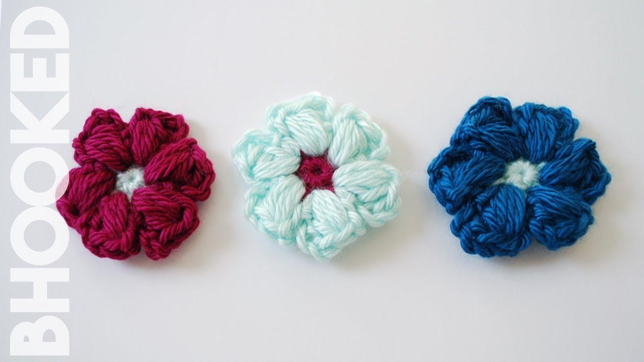 Beginner Crochet Stitch Tutorial : How to Crochet a Puff Stitch Flower: Beginner Friendly ...