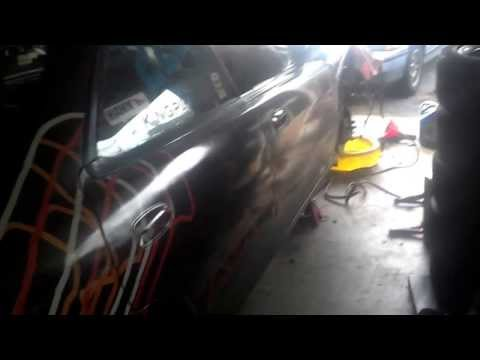 Cranking of the race car engine after the epic wreck at NSXPO 2013