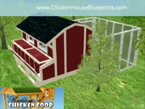 Chickencoop Plans 3d Chicken House Blueprints How To