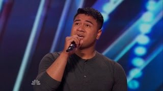"""America's Got Talent S09E04 Paul Ieti Army Soldier's Emotional Performance of """"Stay"""" by Rihanna"""