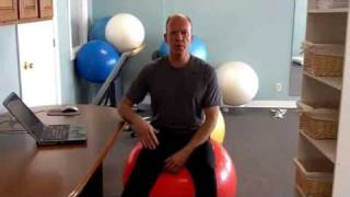 How To Use An Exercise Ball ChairPlus Standing Desk