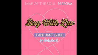 """[OLD] BTS ft. Halsey –Boy With Luv Fan Chant Guide (""""Oh no"""" & """"Hope World"""" only on CC)"""