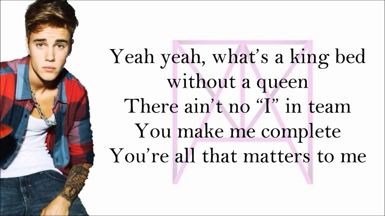 Justin Bieber - All That Matters Lyrics | MetroLyrics