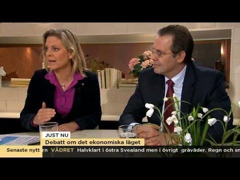 Borg (M) och Andersson (S) debatterar det ekonomiska läget - Nyhetsmorgon (TV4)