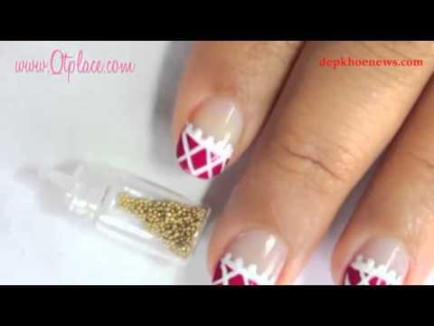 Kiểu nails họa tiết ren