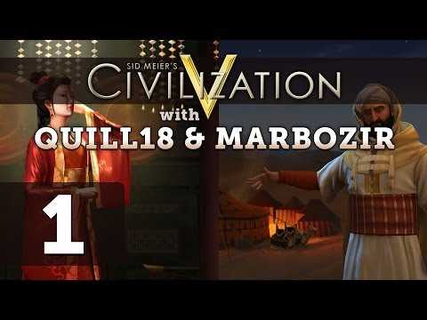 Civilization 5 Deity Twins Multiplayer ft. Quill18 - Part 1